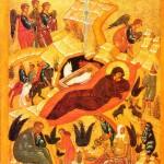 Nativity (Novgorod late 15c Pavel Korin Museum) cc Jim Forest via Flikr